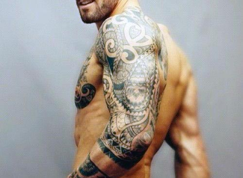 Tribal Half Sleeve Tattoos For Men