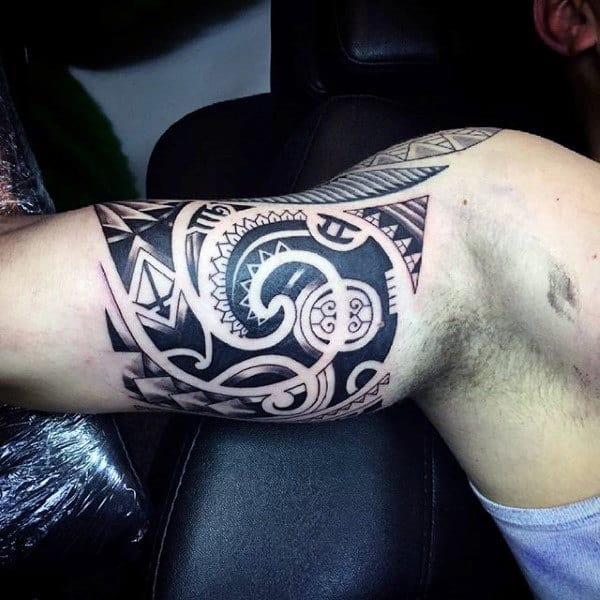 Tribal Inner Arm Mens Tattoo Ideas