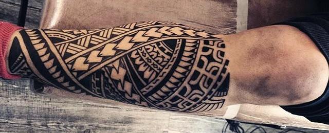 60 Tribal Leg Tattoos For Men – Cool Cultural Design Ideas