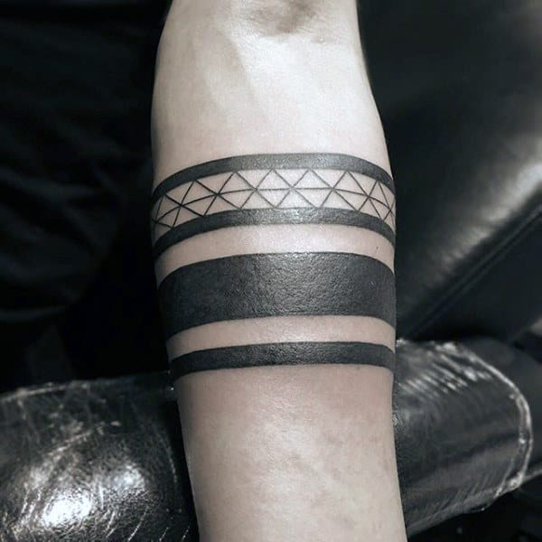 50 black band tattoo designs for men bold ink ideas. Black Bedroom Furniture Sets. Home Design Ideas