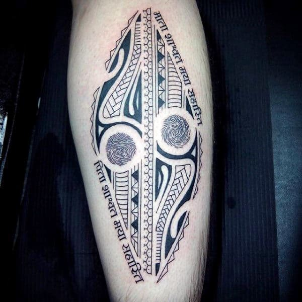 Tribal Male Fingerprint Tattoos