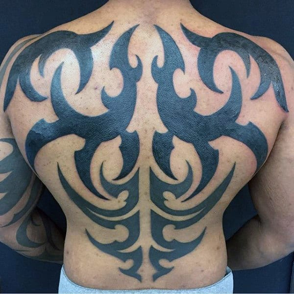 Tribal Male Tattoo On Back