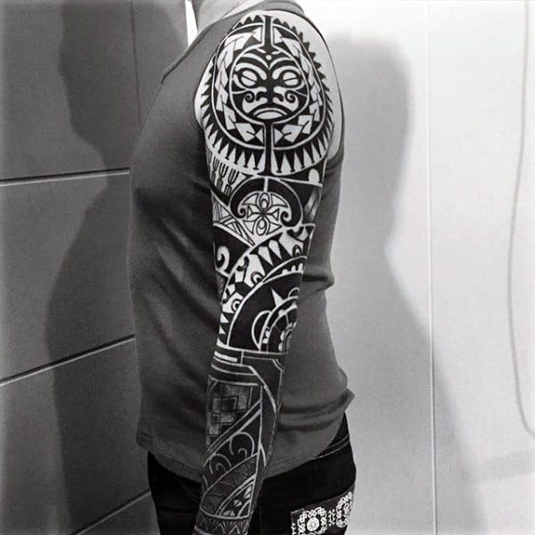 Tribal Mens Arm Tattoo Sleeves