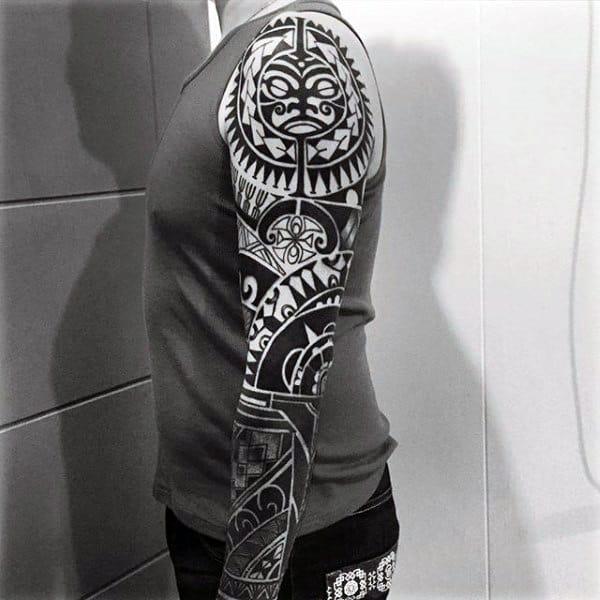 Tribal Mens Arm Tattoo Sleeves
