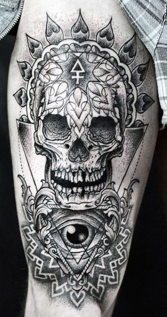 2da965868b3d6 Top 80 Best Skull Tattoos For Men - Manly Designs And Ideas