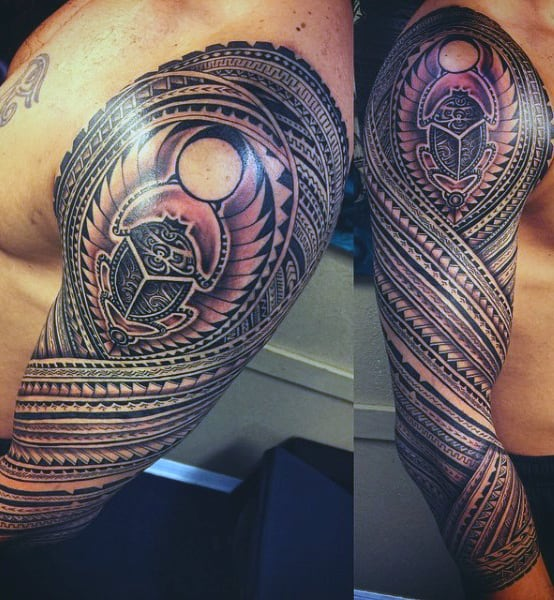 Tribal Men's Tattoo Egyptian On Arm