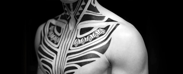 40 Tribal Neck Tattoos For Men – Manly Ink Ideas