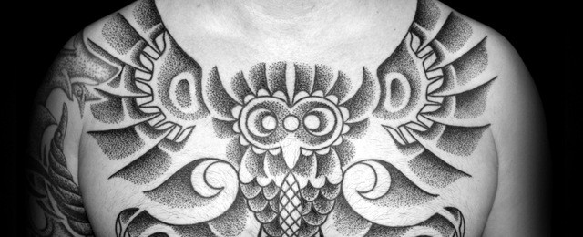 Tribal Owl Tattoo Designs For Men