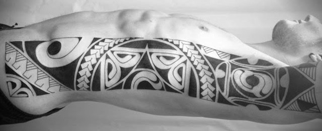 Top 40 Best Tribal Rib Tattoos For Men – Manly Ink Design Ideas