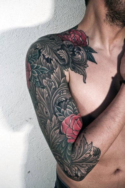 Tribal Rose Tattoos For Men