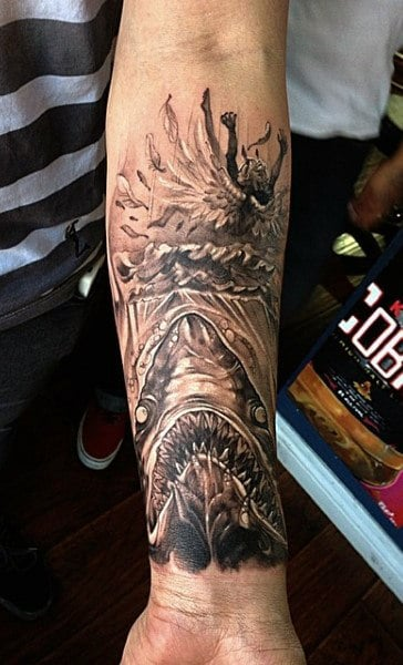 Tribal Shark Tattoo Designs For Males