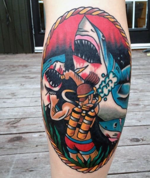 Tribal Shark Tattoos For Men