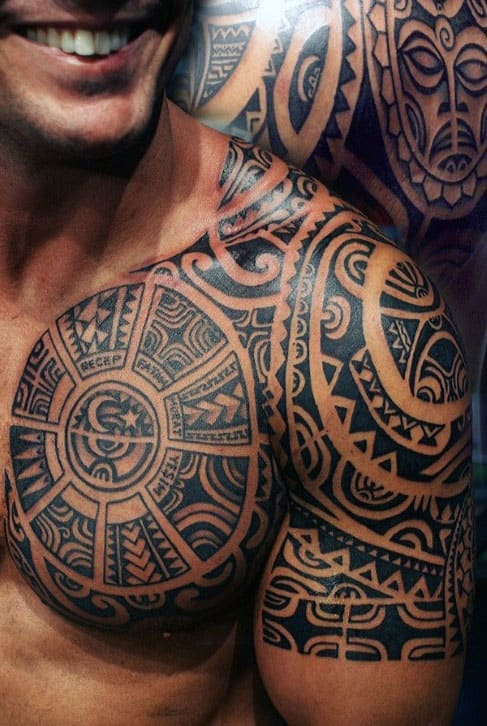 50 Tribal Chest Tattoos For Men