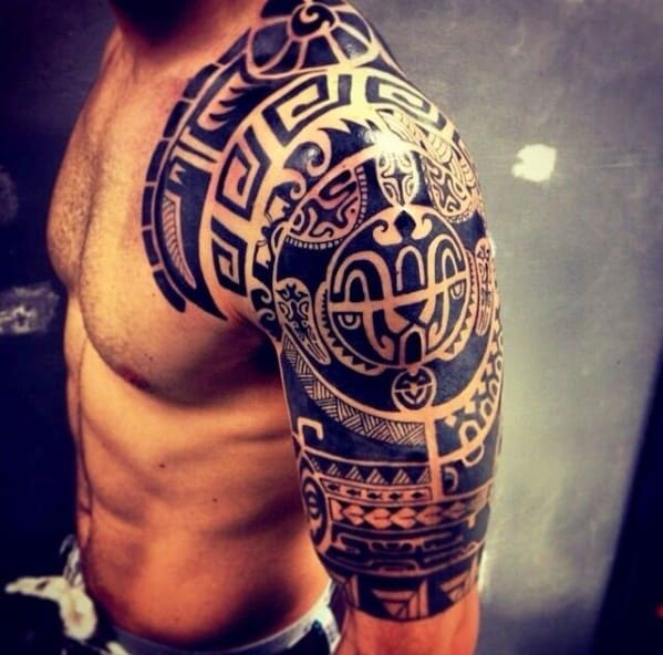 Tribal Shoulder Tattoos For Men