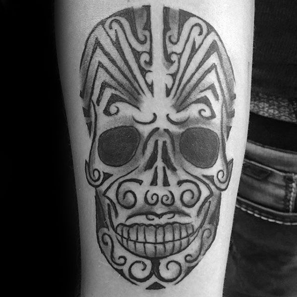 Tribal Skull Tattoos For Gentlemen