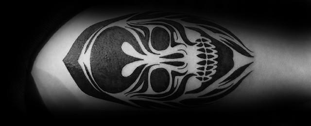 50 Tribal Skull Tattoos For Men – Masculine Design Ideas