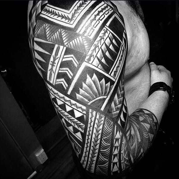 Tribal Sleeve Guys Tattoo Designs