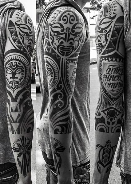 Tribal Sleeve Tattoos For Mens Arms