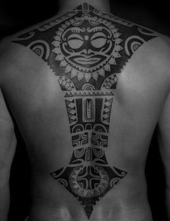 Tribal Spine Tattoos For Guys