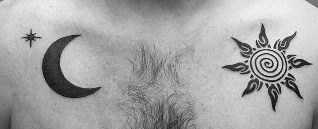 50 Tribal Sun Tattoo Designs For Men – Black Ink Rays