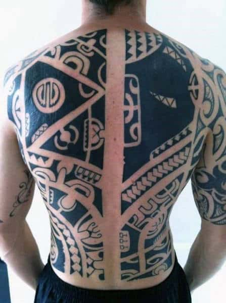 Tribal Tattoo Guys Back Designs