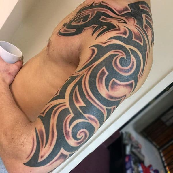 90 Tribal Sleeve Tattoos For Men - Manly Arm Design Ideas