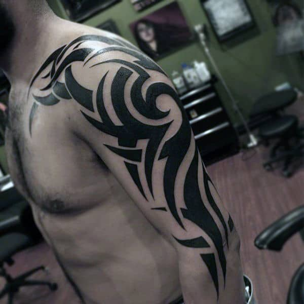 Tribal Tattoos Arm Mens Sleeves