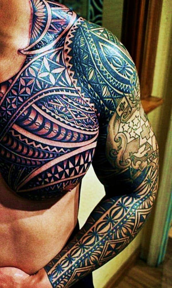 Top 60 best tribal tattoos for men symbols of courage for Tribal tattoos for men forearm