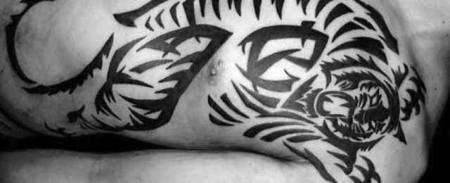 Tribal Tiger Tattoo Designs For Men