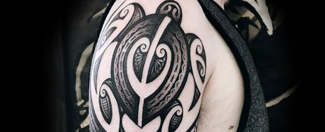 Tribal Turtle Tattoo Designs For Men