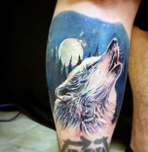 Tribal Wolf Tattoo Designs For Gentlemen