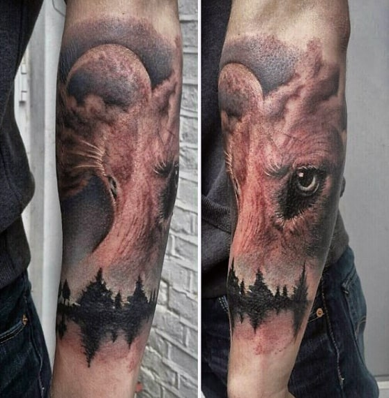 Tribal Wolf Tattoo For Men