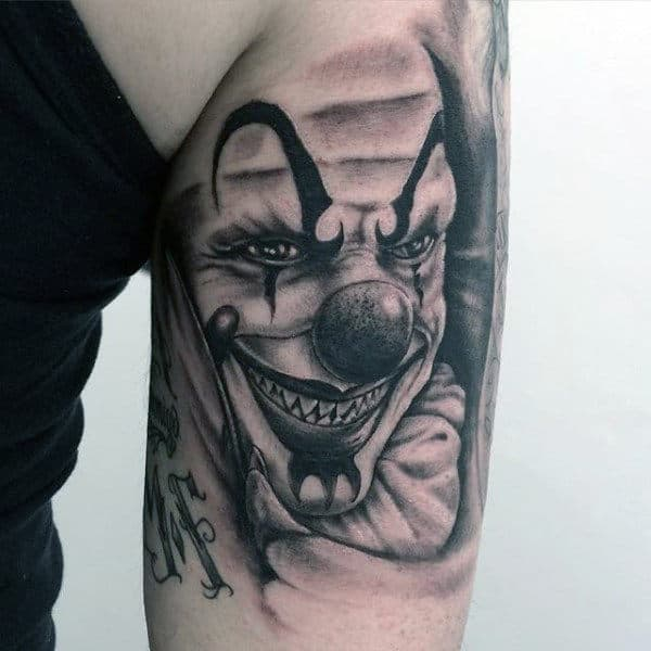 Tricep Guys Clown Tattoos