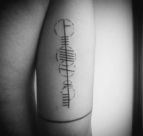 50 Ogham Tattoo Designs For Men - Ancient Alphabet Ink Ideas | 599 x 570 jpeg 76kB