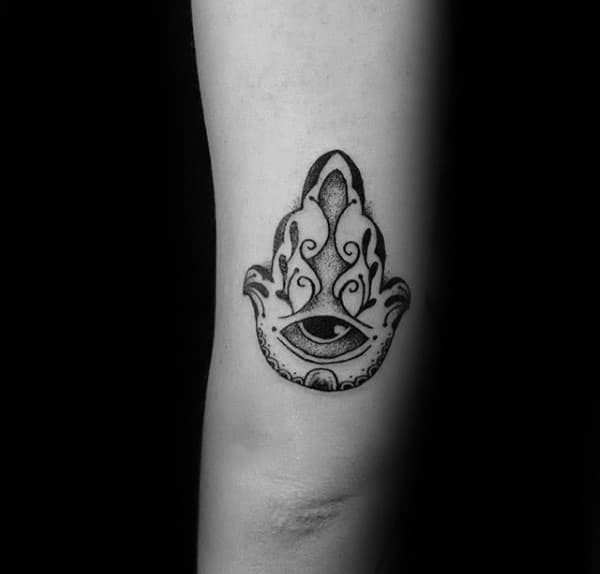 Tricep Small Simple Guys Hamsa Hand Tattoos