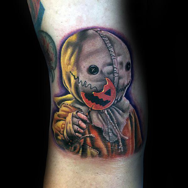 Trick R Treat Mens Tattoo Designs Horror Movie Themed