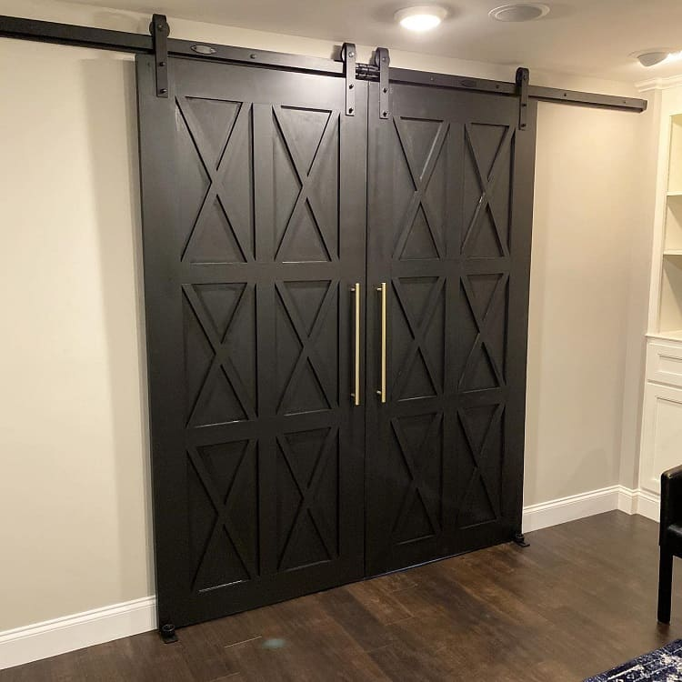 Tricom Black Double Barn Door