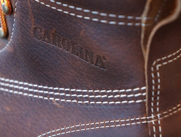 Triple Stitch Detail Mens Carolina 6 Inch Wedge Sole Work Boots