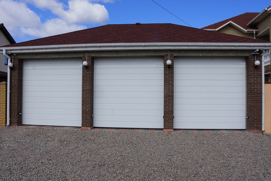 Traditional Home Garage Door Ideas With Barn Door Design