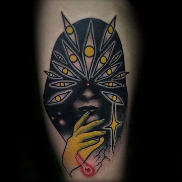 Trippy Tattoos Guys On Leg