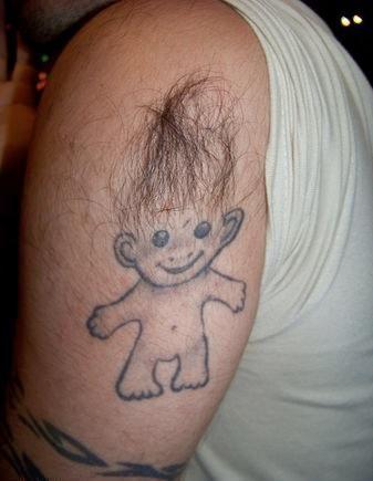 Trolls Tickle Funny Bone Hilarious Tattoo