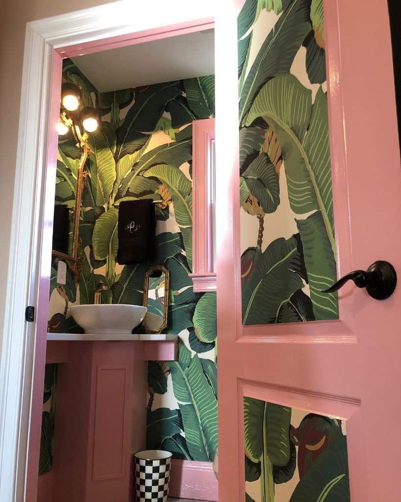 Tropical Bathroom Wallpaper Ideas Francescamillsstylist