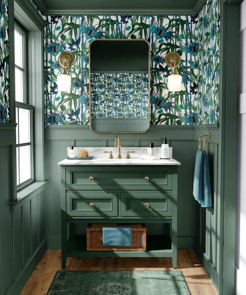 Tropical Bathroom Wallpaper Ideas Lindaclaytonwrites