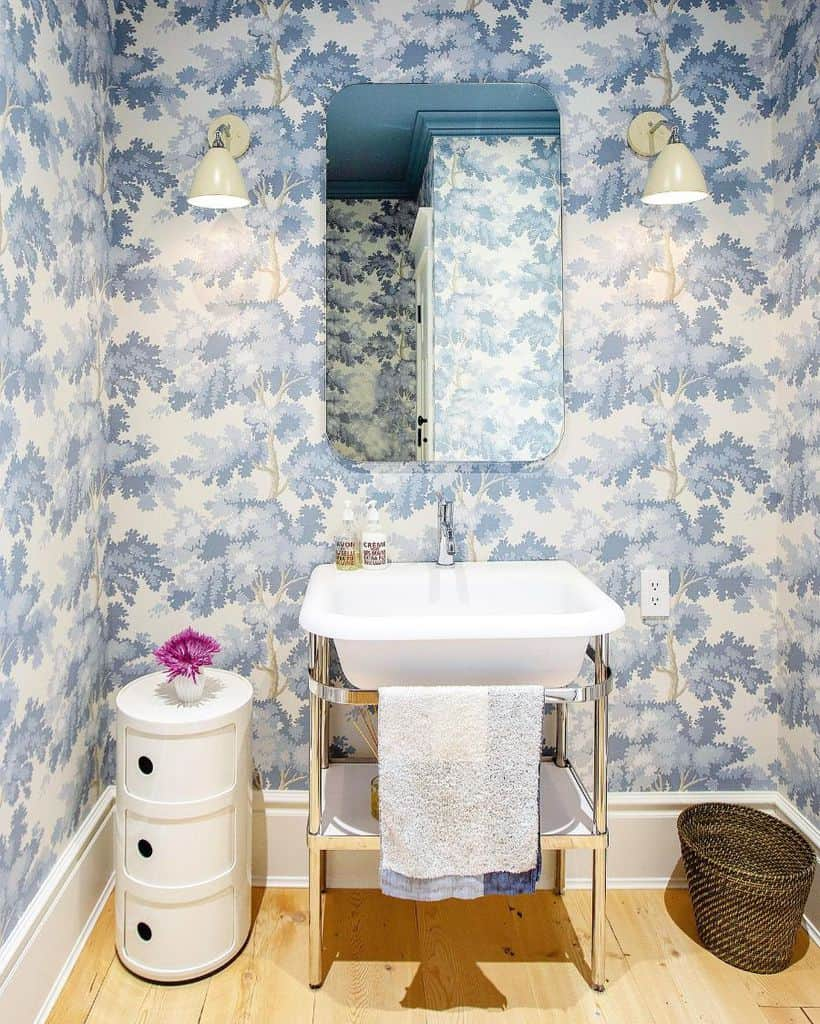 Tropical Bathroom Wallpaper Ideas Pineconecamp