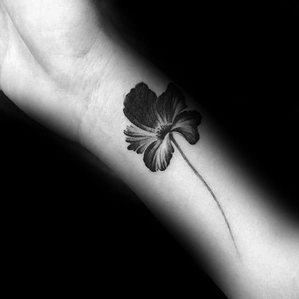 Tropical Flower Small Unique Male Forearm Tattoos