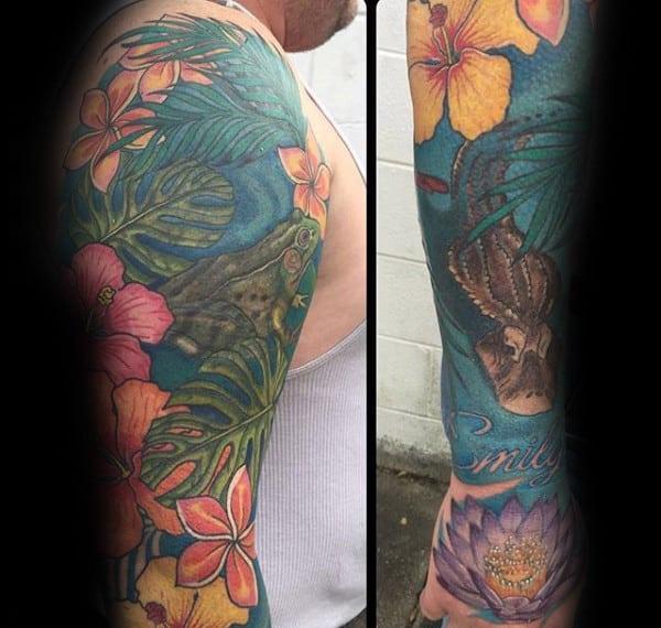 Tropical Flower Tattoos: 80 Hibiscus Tattoo Designs For Men