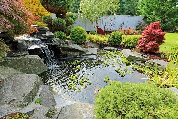 Tropical Landscape Backyard Waterfall