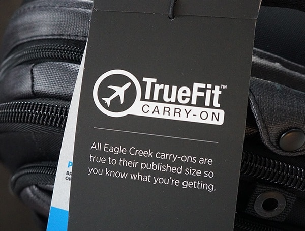 True Fit Carry On Bag Eagle Creek Morphus International Tag