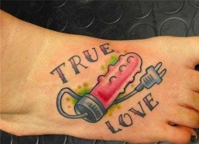True Love Plugs In Tattoo