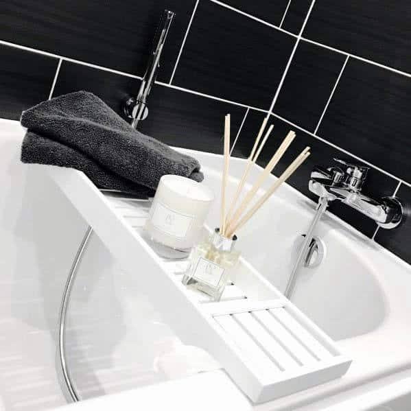 Tub Surround Tile Home Ideas Black Bathrooms